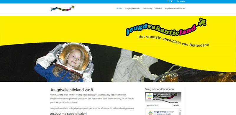 Website Jeugdvakantieland