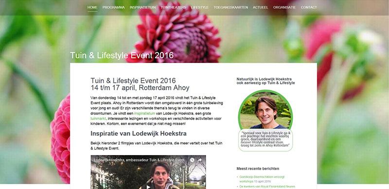 Website Tuin & Lifestyle Event