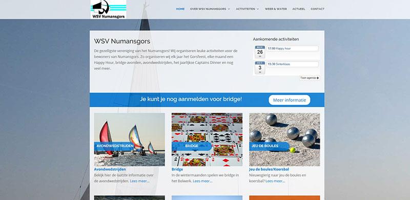 Screenshot website WSV Numansgors